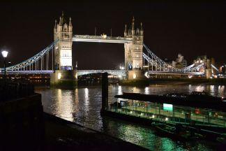 The Tower Bridge by night