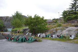 Parkplatz der Schubkarren