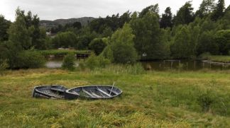 Boote am Teich