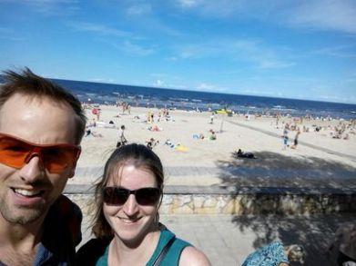 am Strand von Jurmala