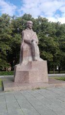 Denkmal des lettischen Dichter und Schriftsteller Janis Rainis